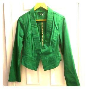 Green Cropped Blazer